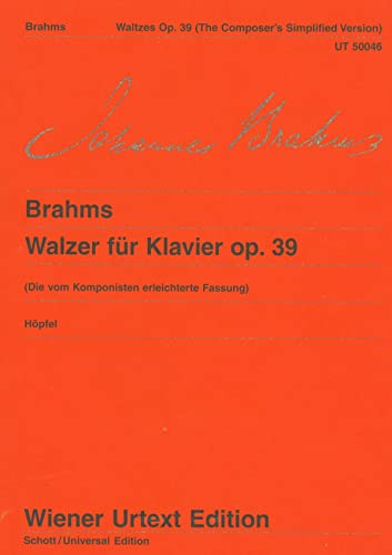 Walzer: (vom Komponisten erleichterte Fassung). op. 39. Klavier (Wiener Urtext)