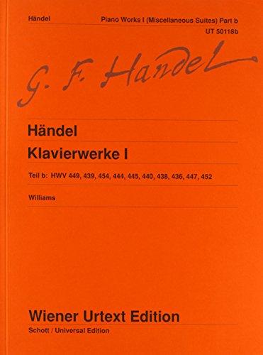 9783850555500: Sämtliche Klavierwerke: Verschiedene Suiten. Nach Autograf, Abschriften und Drucken. Band 1b. Klavier (Wiener Urtext)