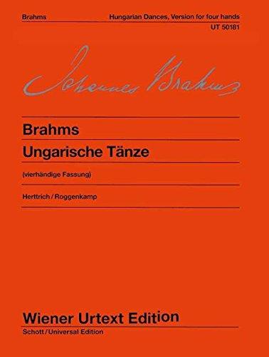 9783850555647: Ungarische Tänze: Vierhändige Fassung. Nach den Quellen. Klavier 4-händig. (Wiener Urtext)