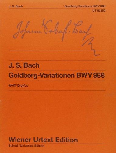 9783850555678: Goldberg-Variationen (Klavierübung IV): Aria mit verschiedenen Veränderungen BWV 988. Nach der neuen Bach-Ausgabe (Wiener Urtext)