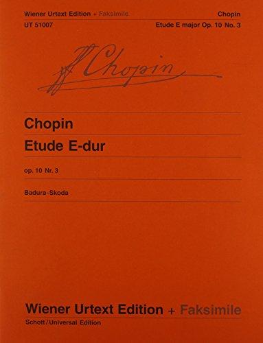 9783850556262: Chopin Etude E major Op 10 No. 3