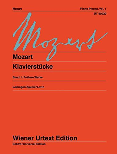 9783850556422: Piano Pieces Volume 1 Early Works (Wiener Urtext)