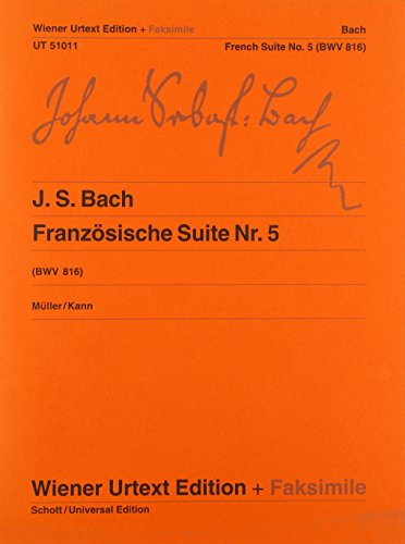 9783850556507: Bach French Suite No.5 (Bwv816)
