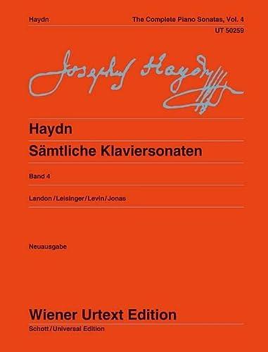 9783850556569: Sämtliche Klaviersonaten 4: Sonaten Hob. XVI:34, XVI:40-42, XVI:47-52. Ed. Landon/Leisinger/Levin. Volume 4. Klavier (Wiener Urtext)