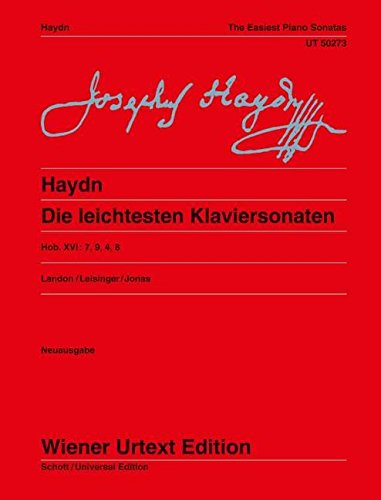 Die leichtesten Klaviersonaten, The Easiest Piano Sonatas (English and German Edition) (3850556824) by Joseph Haydn; Edited by Christa Landon; Revised by Ulrich Leisinger; Fingerings by Oswald Jonas