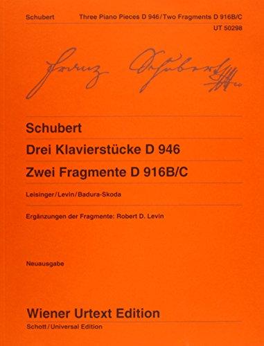 9783850557627: Drei Klavierstcke D 946 Und Zwei Fragmen (Wiener Urtext Edition)