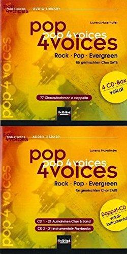 9783850616478: pop 4 voices Medienpaket: Rock - Pop - Evergreen. CD-Gesamtpaket (4er CD-Box vokal und Doppel-CD vokal-instrumental)