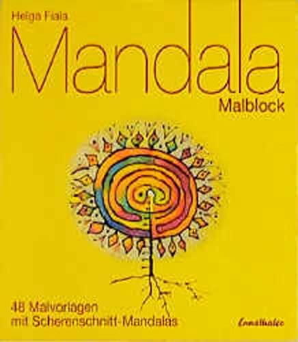 9783850685603: Mandala Malblock: 48 Malvorlagen mit Scherenschnitt-Mandalas