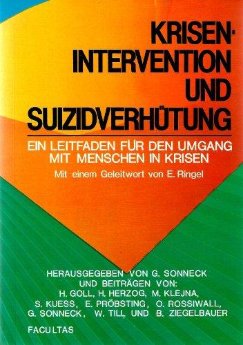 9783850761710: Krisenintervention und Suizidverhütung