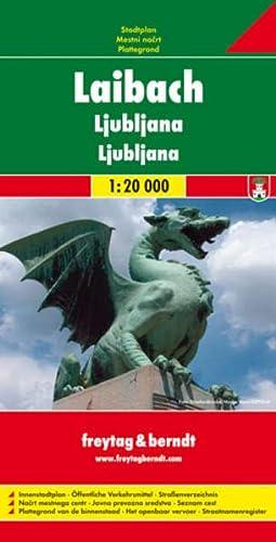 9783850841375: Carte routi�re : Laibach, mit Innenstadtplan und Umgebungskarten