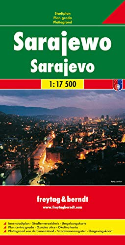 9783850841641: Sarajevo Map (City Map) (English, French, Italian and German Edition)
