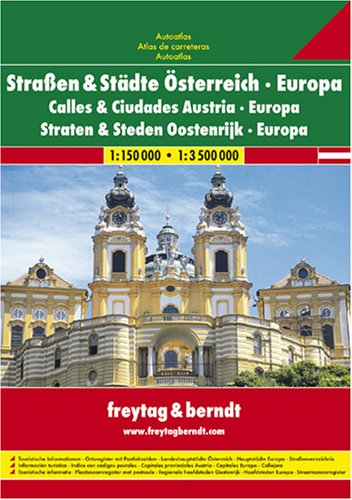 9783850842006: Austria: Roads and Cities Atlas (Road Atlases)