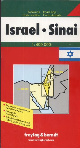 9783850842242: Israel and Sinai Map (English, French, Italian and German Edition)