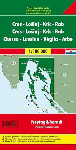 9783850842983: **cres-losinj-krk-rab (Carte Routière)