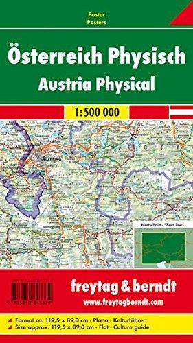 9783850843379: Freytag Berndt Poster, Österreich, Plano in Rolle - Maßstab 1:500.000