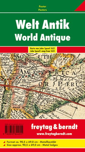 9783850844055: Wereld antiek poster plano F&B: Antieke wereldkaart, ongevouwen