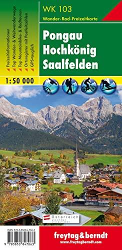 Pongau-Hochkonig-Saalfel den 50K (Hiking Maps of the Austrian Alps): Freytag-Berndt und Artaria