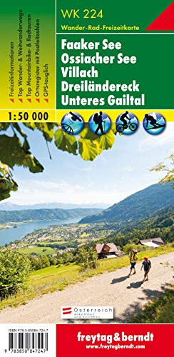 9783850847247: Faaker See 1:50.000: Faaker See, Villach, Unteres Gailtal (Lower Gail Valley) (Wander Karte)