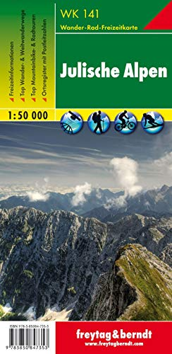 9783850847353: Julische Alpen: 1:50K Hiking Map FB WK141 (Slovenia) (Wanderkarte) (English, Italian and German Edition)