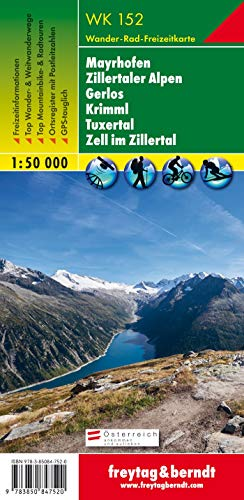 9783850847520: WK152: Mayrhofen- Zillertaler Alpen Hiking map (Austria) FB 1:50K (Hiking Maps of the Austrian Alps) (English, French, Italian and German Edition)