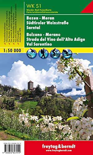9783850847919: Bolzano, Merano, Strada del vino dell'Alto Adige, Val Sarentino 1:50.00: Wandel- en fietskaart 1:50 000: Bozen (Bolzano), Meran (Merano) and Surroundings (Wander Karte)