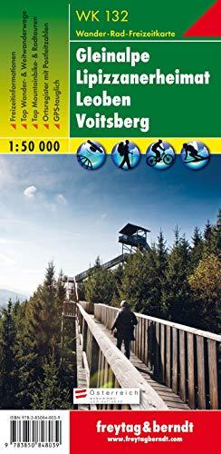 Gleinalpe - Lipizzanerheimat - Leoben - Voitsberg, Wanderkarte 1:50.000, WK 132, freytag & berndt Wander-Rad-Freizeitkarten [Map] Freytag-Berndt und Artaria KG