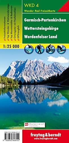 Freytag Berndt Wanderkarten, Garmisch-Partenkirchen, Wetterstein, Werdenfelser Land: