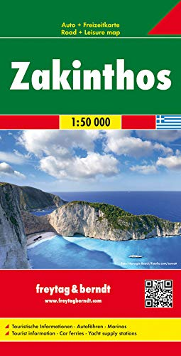 9783850848664: Zakinthos (Greece) 1:50,000 Visitor's Map (English, Spanish and German Edition)