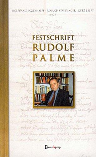 Festschrift Rudolf Palme: Wolfgang Ingenhaeff