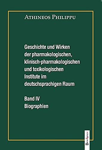Geschichte und Wirken der pharmakologischen, klinisch-pharmakologischen und toxikologischen ...