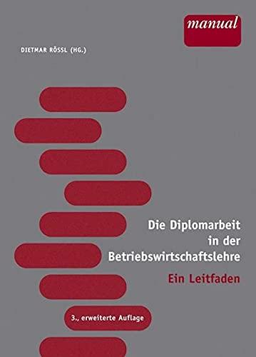 Die Diplomarbeit in der Betriebswirtschaftslehre (3851148886) by Ian Fleming