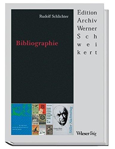 9783851296150: Rudolf Schlichter - Bibliographie. Edition Archiv Werner Schweikert;