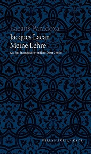 Meine Lehre (9783851324716) by Lacan, Jacques