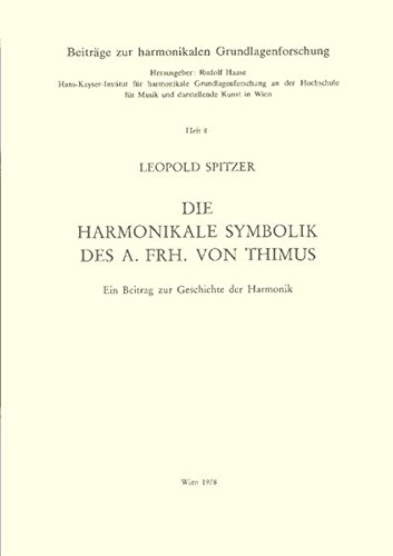 9783851510294: Die harmonikale Symbolik des A. Frh. von Thimus: Ein Beitrag zur Geschichte d. Harmonik (Beitrage zur harmonikalen Grundlagenforschung ; Heft 8) (German Edition)