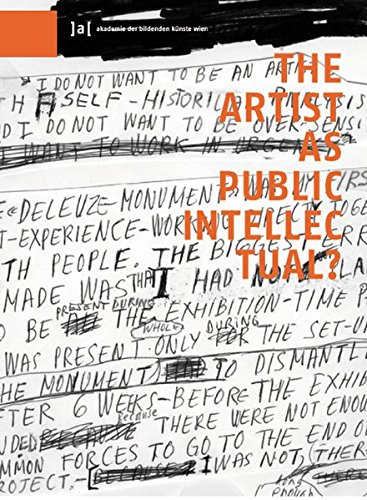 9783851601176: The Artist as Public Intellectual (Publications of the Academy of Fine Arts Vienna)
