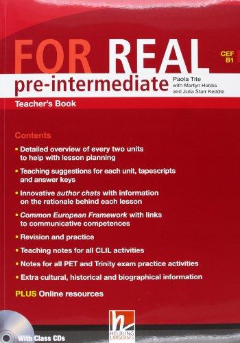 9783852722412: For Real Pre-Intermediate Teacher's Book & CD Rom and Audio CD's (CEF B1 )