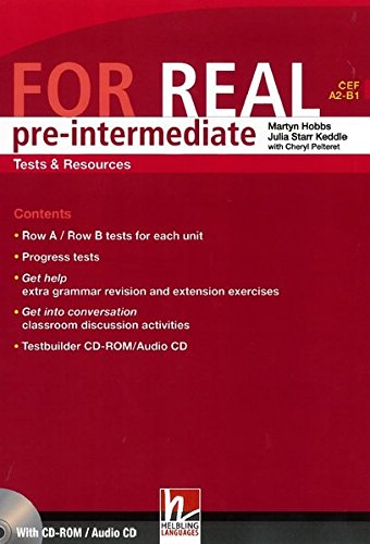 9783852722429: For Real Pre-Intermediate Tests & Resources (CEF A2 - B1 )