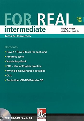 9783852722597: For Real Intermediate Tests & Resources (CEF B2 ) with CD Rom/Cd