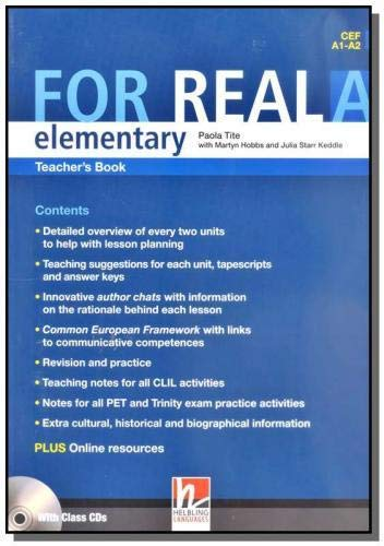 9783852723778: For Real Elementary Teacher's Book A with Audio CD's( CEF A2- B1 )