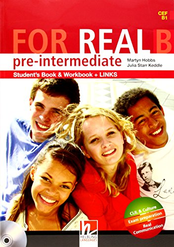 9783852723808: For Real Pre-Intermediate Student's Book & Workbook and Links B(CEF B1 )