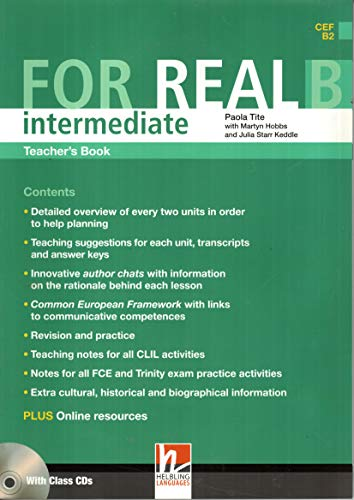 9783852724027: For Real Intermediate Teacher's Book B with Audio Cd's ( CEFB2 )