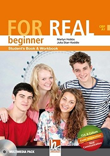 9783852724294: For Real Beginner Student's Book & Workbook Multimedia Pack ( CEF A1 - A2 )