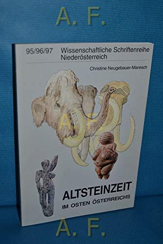 9783853269817: Altsteinzeit im Osten Österreichs (Wissenschaftliche Schriftenreihe Niederösterreich)