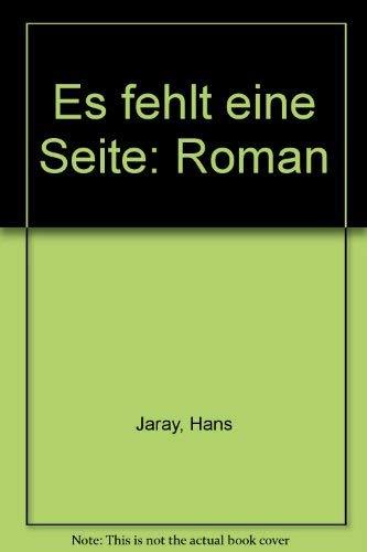 9783853740309: Es Fehlt Eine Seite - Roman