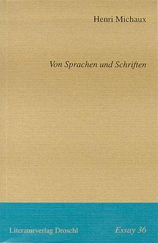 9783854205012: Von Sprachen und Schriften