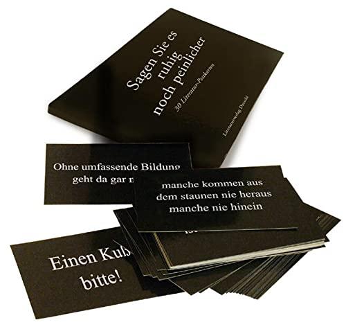 9783854207412: Sagen Sie es ruhig noch peinlicher: 30 Literatur-Postkarten