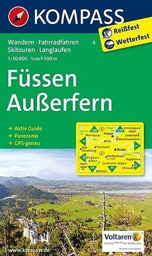 9783854910060: Füssen - Außerfern 4 GPS wp kompass: Wandelkaart 1:50 000