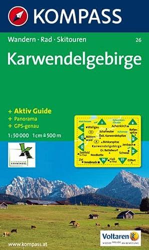 9783854910275: Carta escursionistica n. 26. Austria. Tirolo... Karwendelgebirge 1:50.000. Con carta panoramica. Adatto a GPS. DVD-ROM digital map