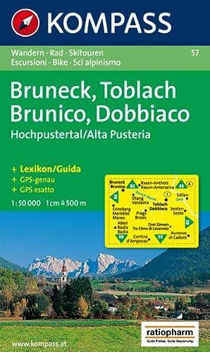 9783854910640: 57: Bruneck - Toblach / Brunico - Dobbiaco 1:50, 000