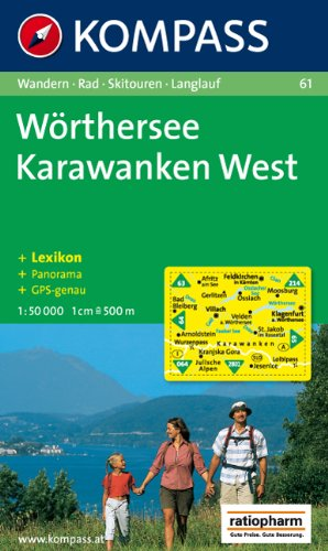 9783854910688: Carta escursionistica n. 61. Austria. Carinzia. Wörthersee, Karawanken West 1:50.000. Con carta panoramica. Adatto a GPS. DVD-ROM digital map